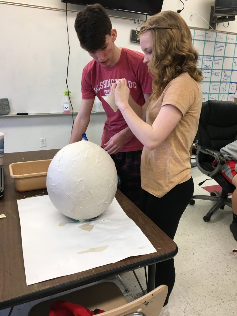 Paper Mache using a balloon