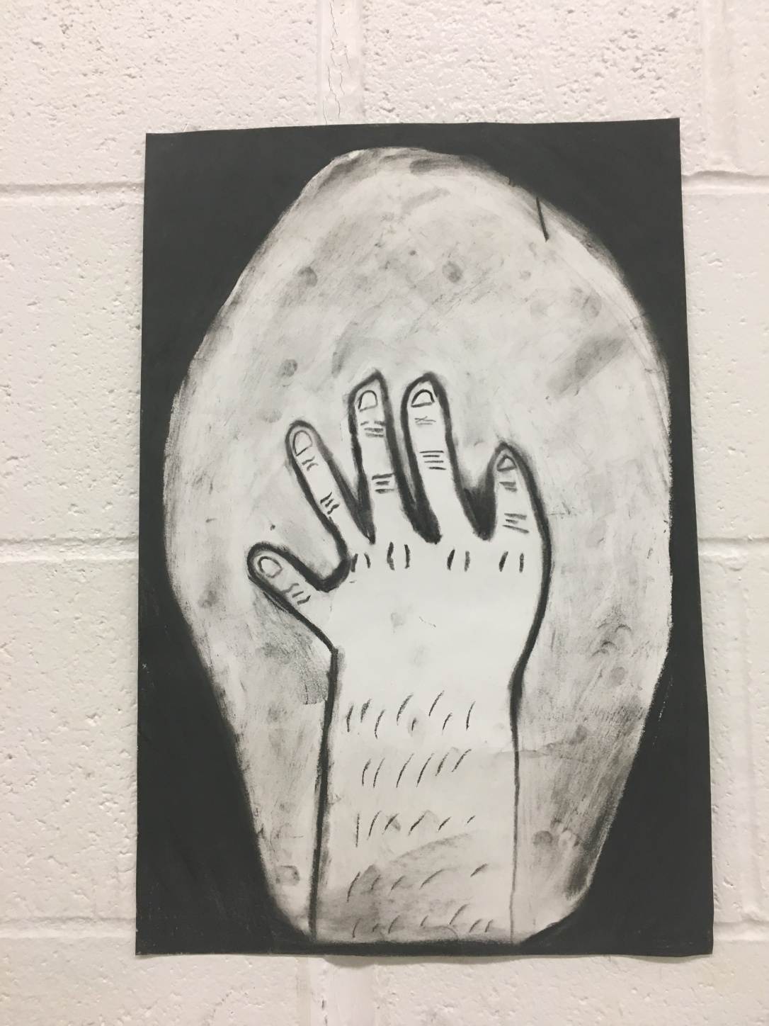 charcoal hand