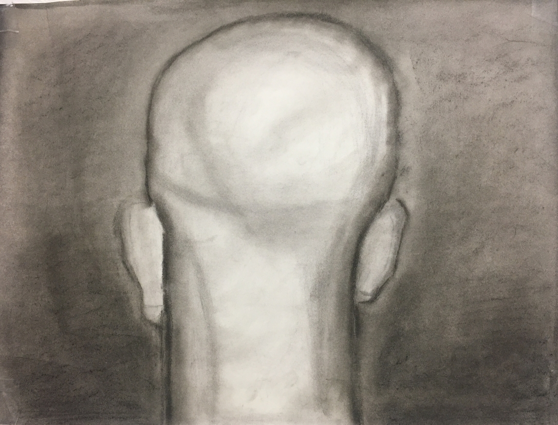 charcoal of the back of the head