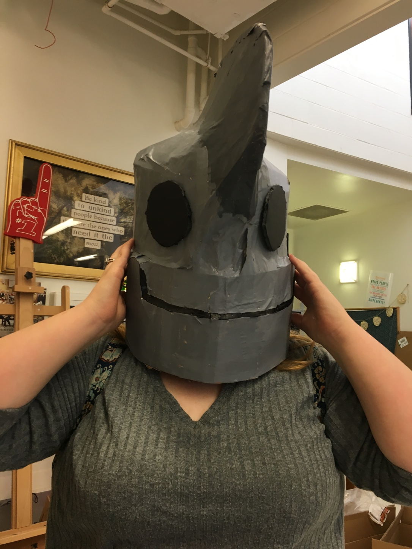 paper mache iron giant